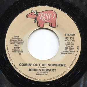 John Stewart: Comin' Out of Nowhere / Gold - 45 rpm Vinyl Record