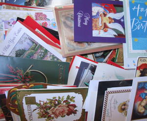 *Grab Bag Lot of 10 Unused Assorted Vintage Miscellaneous Greeting Cards - Christmas, Holiday, Birthday etc.