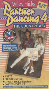 Wiley Hick's Partner Dancing 4: The Country Way - NOS Sealed Vintage VHS Home Movie Video Tape