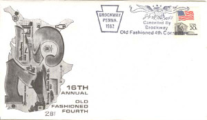 1982 Brockway, PA 16th Annual Old Fashioned Fourth Envelope & Brockway Glass Insert