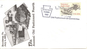 1983 Brockway 17th Annual Old Fashioned Fourth Mailer & History