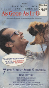 As Good as It Gets -  Vintage NOS Sealed VHS Home Movie Video Tape