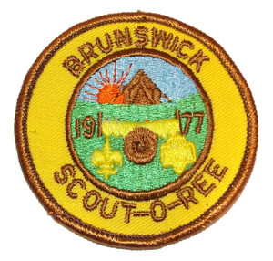 1977 Brunswick Scout-O-Ree Camp Meeting Embroidered Cloth Boy Scouts Patch