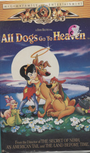 All Dogs Go To Heaven -  VHS Home Movie Video Tape