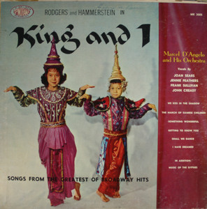 Marcel D'Angelo & Orchestra w/ Voices: The King and I - LP Vinyl Record Album