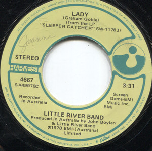 Little River Band: Lady / Take Me Home - 45 rpm Vinyl Record