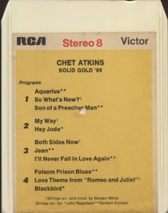 Chet Atkins: Solid Gold '69 - 8 Track Tape Cartridge