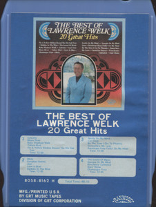 Lawrence Welk: The Best of Lawrence Welk, 20 Great Hits - 8 Track Tape Cartridge