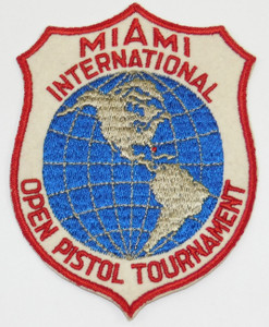 Vintage Miami International Open Pistol Tournament Embroidered Cloth Patch