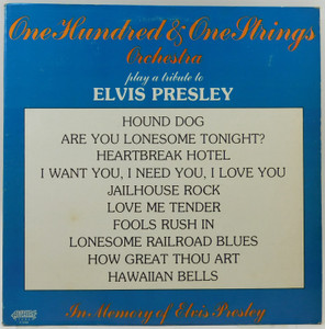 101 Strings Orchestra: Play a Tribute to Elvis Presley - LP Vinyl Record Album