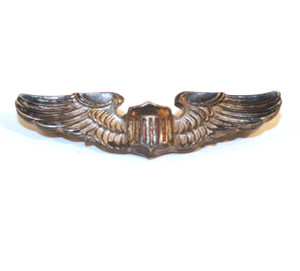 """Sterling Silver US Military Army Air Force Pilot Wings by Amico - 1 3/4"""""""