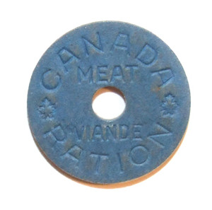 Canada WWII Meat Ration Token Canadian Food Ration Coin