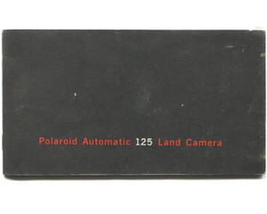 Vintage 1966 Polaroid Automatic 125 Land Camera Book Owner's Manual Booklet