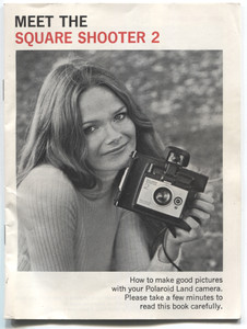 Vintage 1973 Polaroid Square Shooter 2 Instant Film Camera Book Owner's Manual Booklet