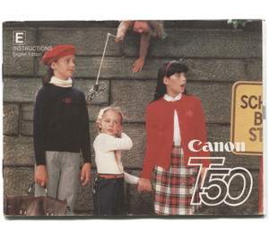 Vintage 1982 Canon T50 35mm Film Camera Book Owner's Manual Booklet