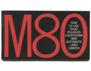 Vintage Polaroid Countdown M80 Automatic Land Camera Book Owner's Manual Booklet