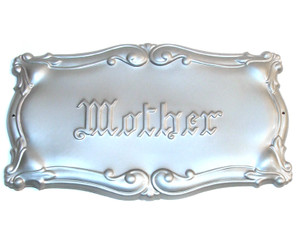 Embossed Mother Art Nouveau Funeral Casket Plate
