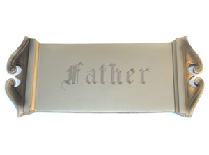 Parsons Engraved Father Nickel Finish Casket Plate Plaque