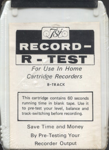 Vintage NOS TSI Record-R-Test Sealed Blank 8 Track Tape Cartridge
