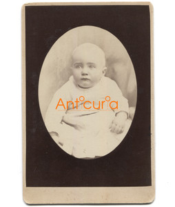 Antique Victorian Cabinet Card Baby Photo Named Subject Walter H. Taylor - Jackson, CA
