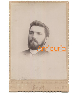 Antique Victorian Cabinet Card Photo Named Subject H.L. Presley - Hume, NY