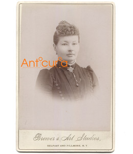 Antique Victorian Cabinet Card Photo Named Subject G.E. Sumner - Belfast, NY