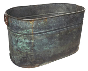 Antique Rustic Primitive Copper Boiler Vintage Wash Tub