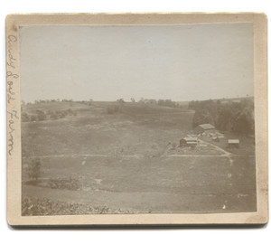 Antique 1899 Photograph of Isaac B. Horton & Andy Loyd Farm from Hill