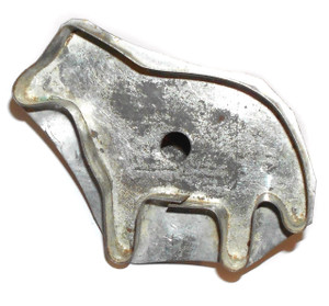 Antique Cookie Cutter w/ Handle Primitive Handmade Tin Fat Horse Shaped
