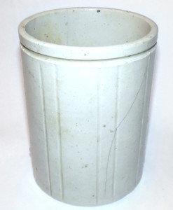 Antique Victorian Signed W.P. Hartley Small Marmalade Stoneware Crock