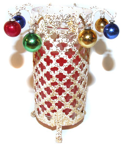 1950's Pierced Footed Christmas Candle Holder