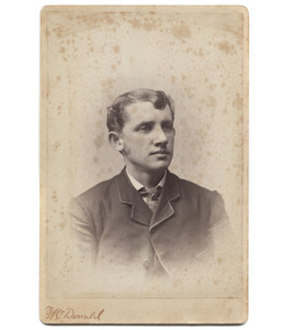 Antique Victorian Cabinet Card Photograph Young Man in Suit - South Bend, IN