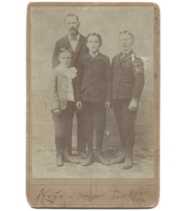 Antique Victorian Cabinet Card Photograph Named Man & Songs - Lock Haven, PA