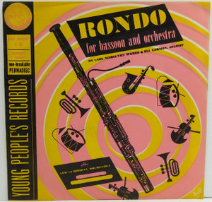 Eli Carmen & YPR Symphony Orchestra: Rondo for Bassoon and Orchestra - 78 rpm Record