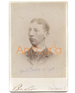 Antique Victorian Cabinet Card Photograph of George L. Starkey - Columbus, OH