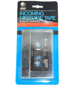 Vintage 1988 NOS AT&T Incoming Message Tape Answering Machine Cassette 60 Minute