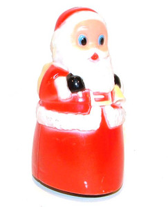 1960's Plastic Friction Powered Santa Claus Christmas Toy