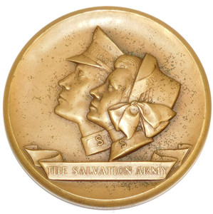 Large Bronze Salvation Army Commemorative Coin Token Medal