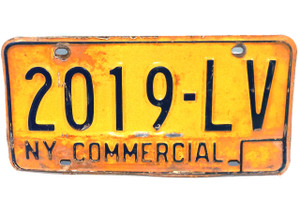 1973-80 New York State Commercial License Plate - Tag #2019-LV
