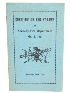 Vintage Undated Constitution & By-Laws Book Kennedy Fire Department - Kennedy, NY