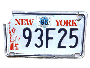 19956 New York Empire State Motorcycle License Plate - Tag #93F25