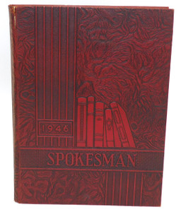 Vintage 1946 Spokesman - Strong Vincent High School Yearbook Erie PA