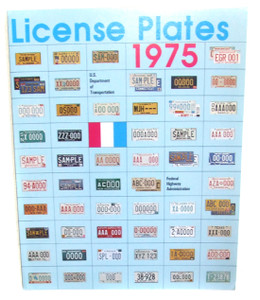 1975 US Department of Transportation License Plates Flyer Booklet
