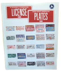 1980 US Department of Transportation License Plates Flyer Booklet