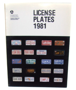 1981 US Department of Transportation License Plates Flyer Booklet