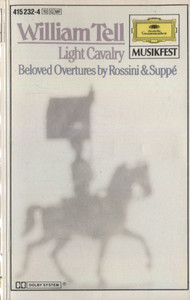 Berlin Philharmonic Orchestra: William Tell, Beloved Overtures by Rossini & Suppe - Audio Cassette Tape