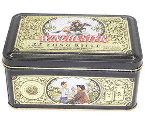 1993 Vintage Olin Winchester .22 Long Rifle Bullets Empty Advertising Tin