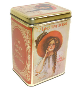 Vintage The Ladies Home Journal A Girls' Number 1909 Cover Art Advertising Tin