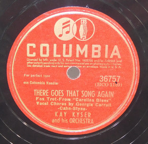 Kay Kyser: I'm Gonna See My Baby / There Goes That Song Again - 78 rpm Record