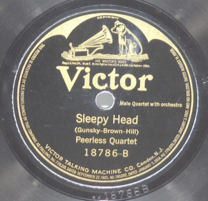 Charles Hart, Elliott Shaw: There's Only One Pal After All / Peerless Quartet: Sleepy Head - 78 rpm Record